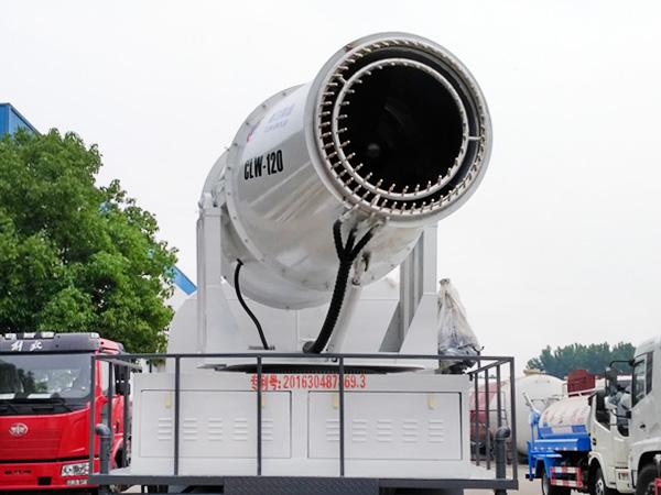 100米喷雾机 车载雾炮 降尘喷雾洒水车 clw-120型喷雾炮