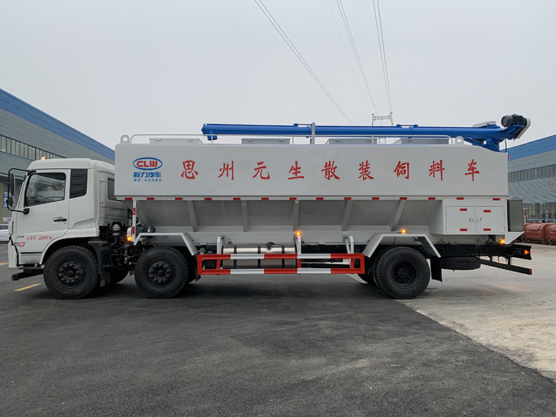 东风15吨散装饲料运输车